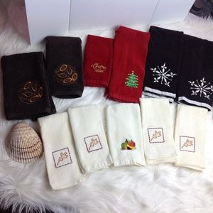 Other - 11 Towels Hand Fingertip Fall Xmas Thanksgiving